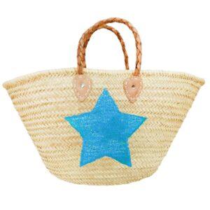 beach Baskets Sequin Star Blue