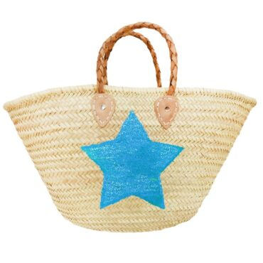 beach Baskets Sequin Star Blue