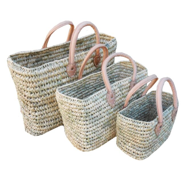 Natural rectangle three Baskets