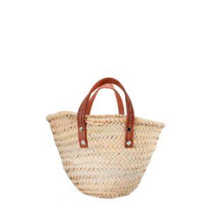 Natural Basket Small Flat Handle
