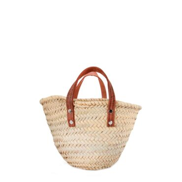 Natural Basket Small Flat Handle