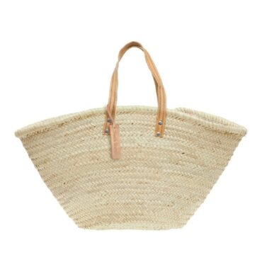 Natural Basket Flat Leather Handle