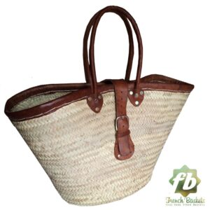 natural baskets with clasp French Baskets