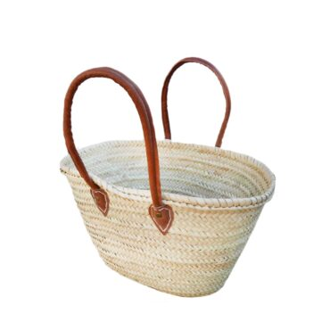 Natural Medium Basket Long Handles