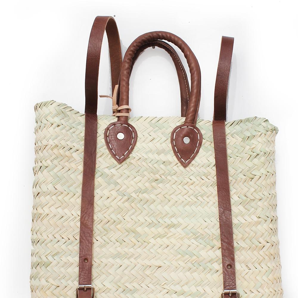 straw baskets Backpack square shape