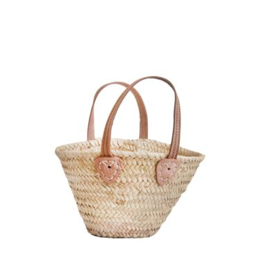 Natural Basket Small Flat Handle sewing