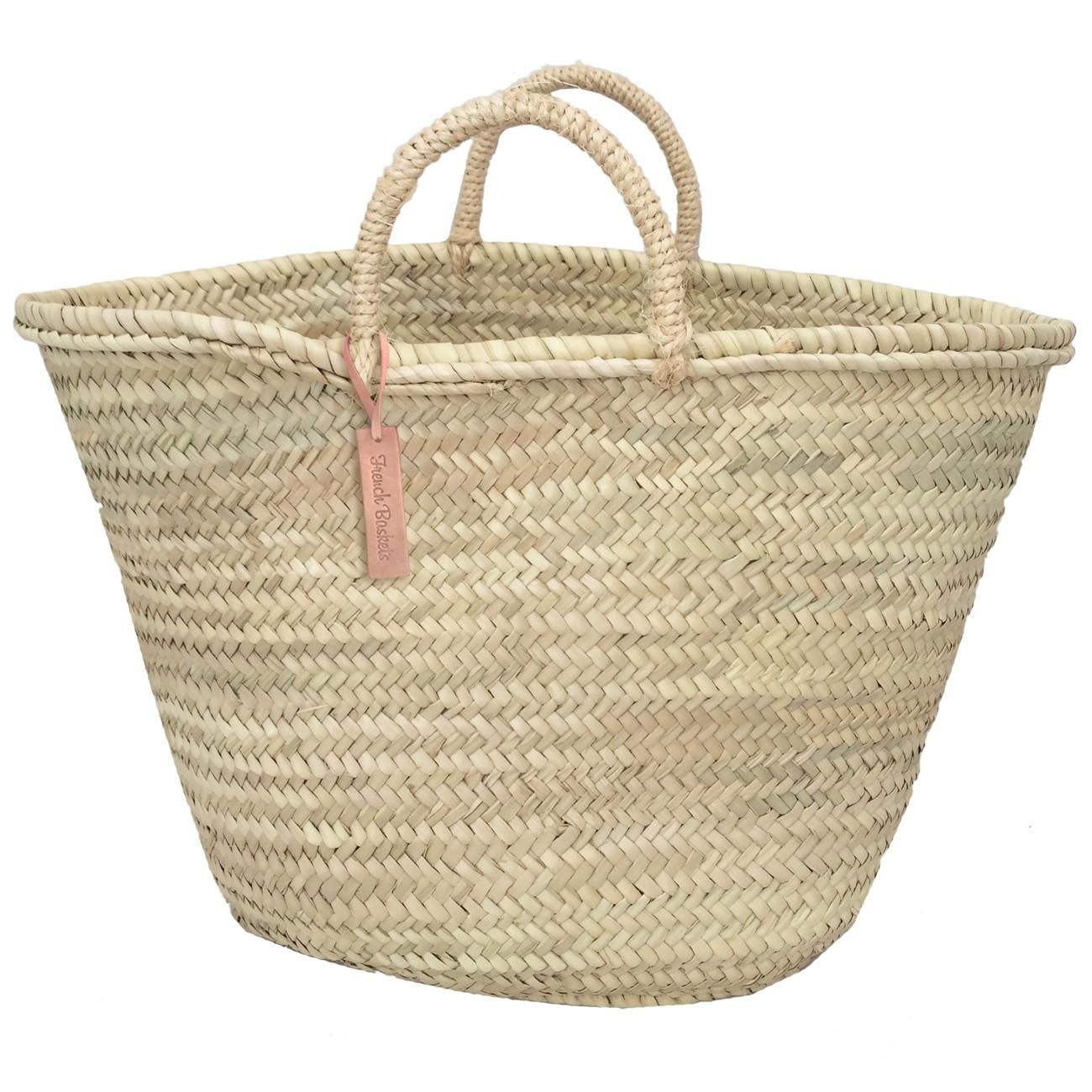 big tote baskets rope handle