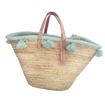 French baskets pastel lagoon pompom