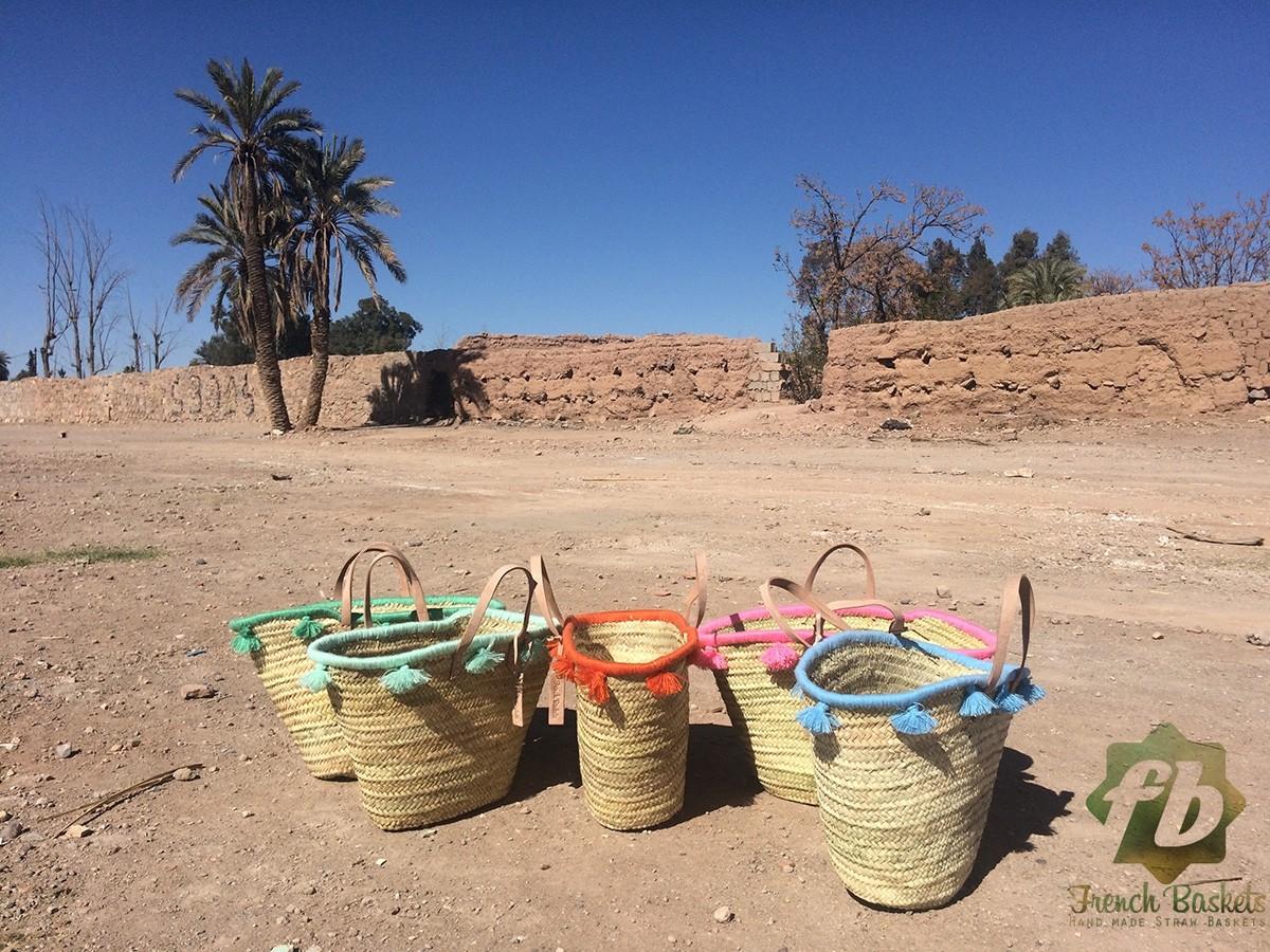 French baskets pastel lagoon pompom