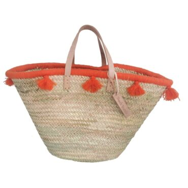 French baskets pastel orange pompom