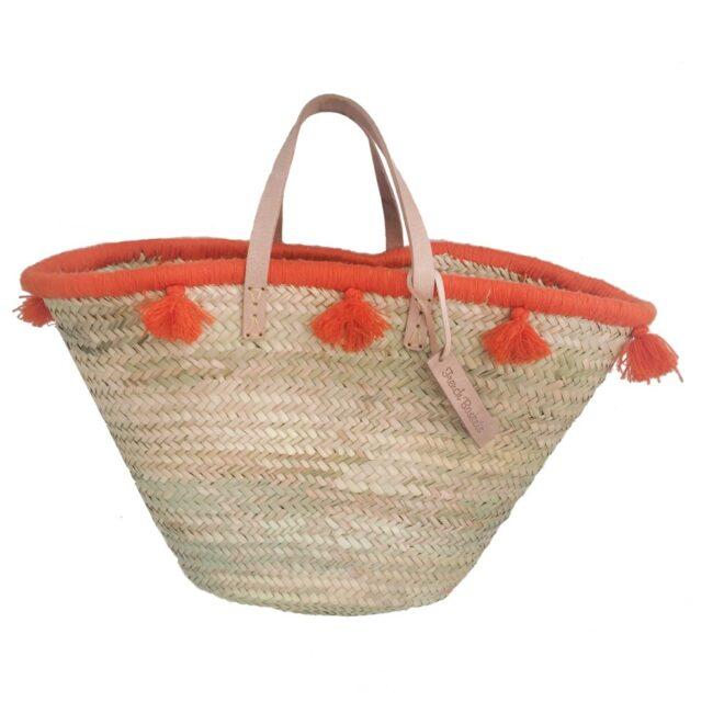 French baskets pastel orange pompom