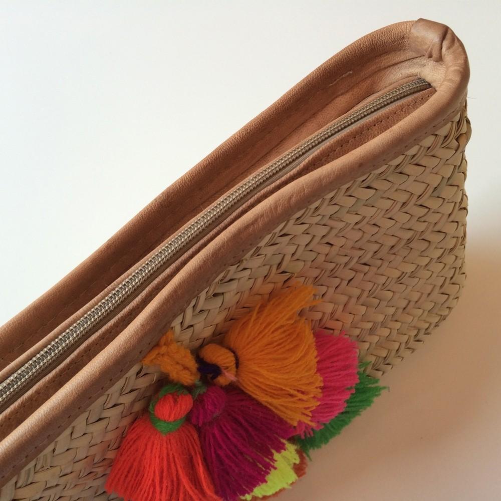 French Baskets clutch bags PomPom necklace