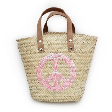 Mini Baskets pink Peace and Love spangle