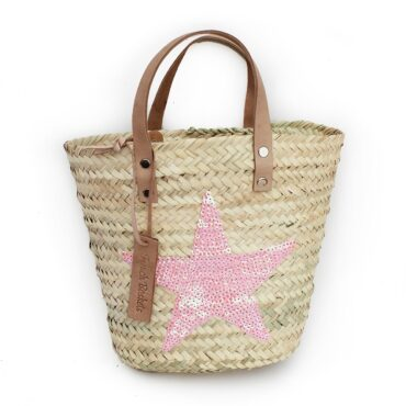 Mini Baskets pink Stars spangle
