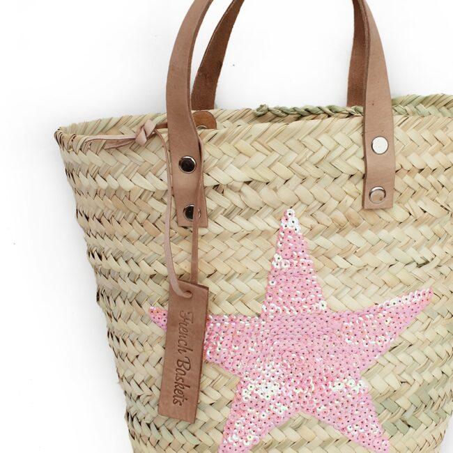 Mini Baskets pink Stars spangle