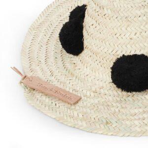 Straw Hats pompom black
