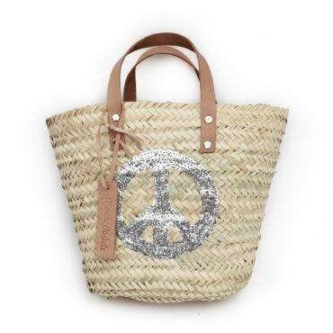 Mini Baskets silver Peace and Love spangle