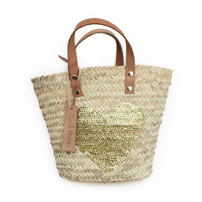 Baskets Gold Heart spangle