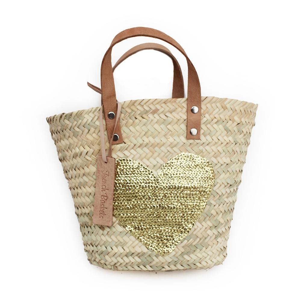 Baskets Gold Heart spangle