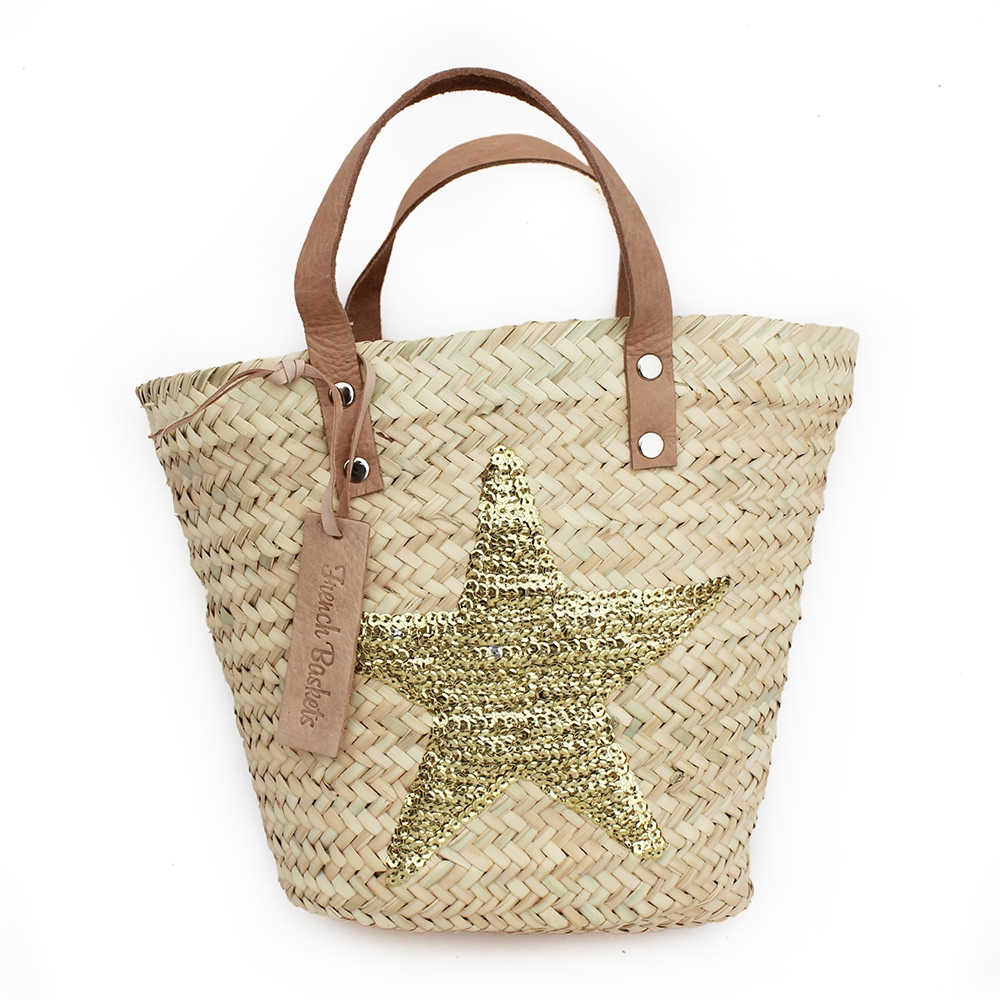 mini Baskets Gold stars spangle