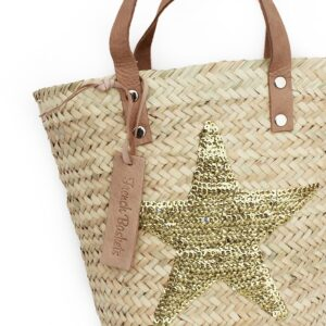 mini Baskets Gold stars spangle