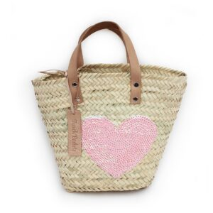 Mini Baskets pink Heart spangle