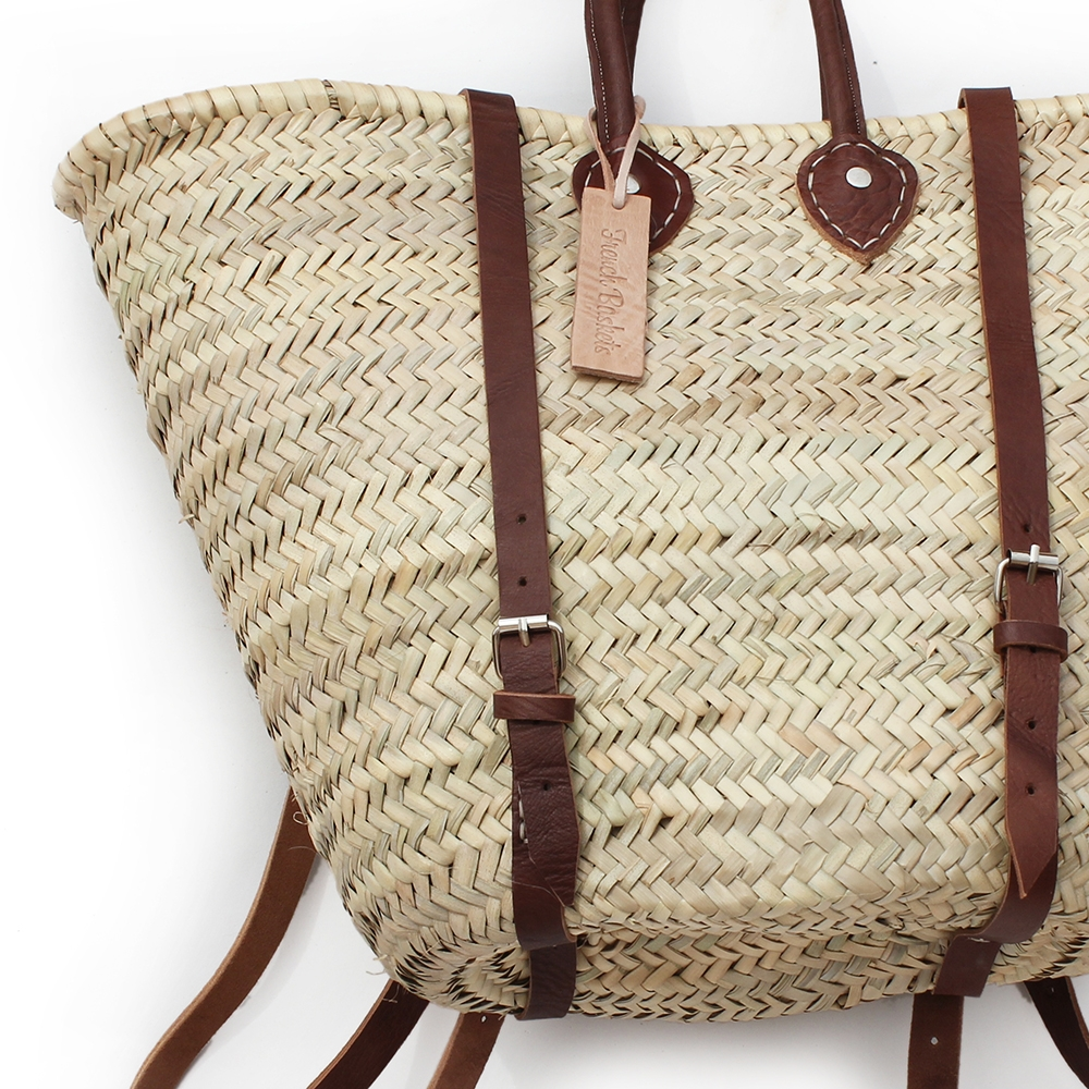 straw baskets Backpack baskets shape