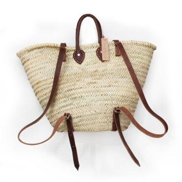 straw baskets Backpack baskets shape