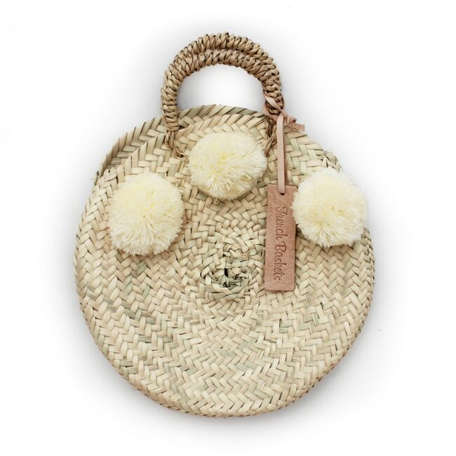 dainty Basket round Small Pom Pom yellow