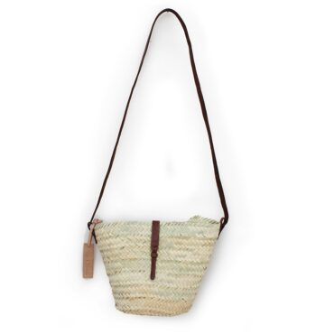 Adèle Mini basket with leather brun closure