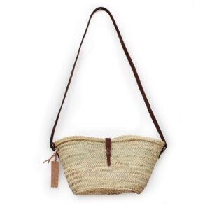 Joséphine Mini basket with leather brun closure