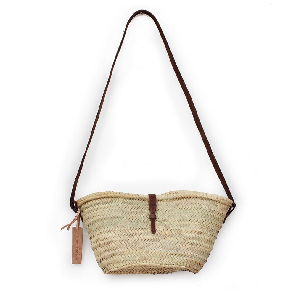 Joséphine Mini basket with leather brun closure