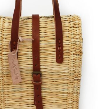 straw suitcase Small