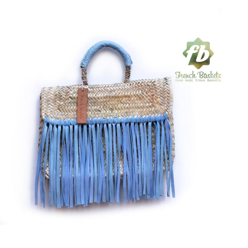 Miami Baskets blue fringe leather