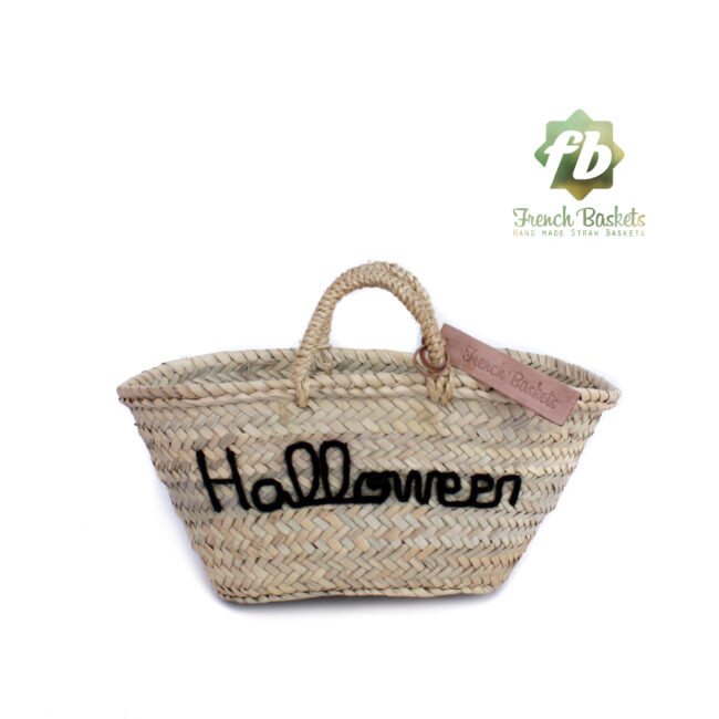 Customized straw bags Halloween gifts French baskets
