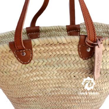 Basket long Flat Leather Handle