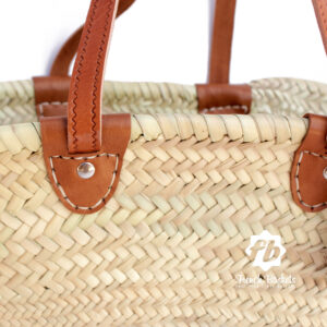 Basket long Flat Leather Handle