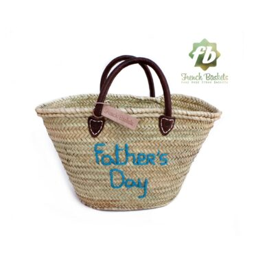 Customized straw bags Fasther's Day gifts French baskets Monogrammed embroidered