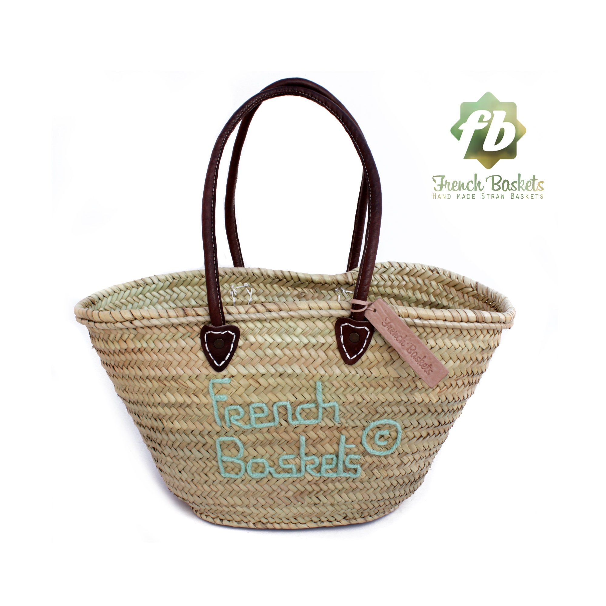 Personalized straw bag hand embroidered i love city brand customized gifts