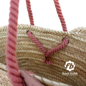 Name Customized straw bags Name Anniversary French baskets Monogrammed