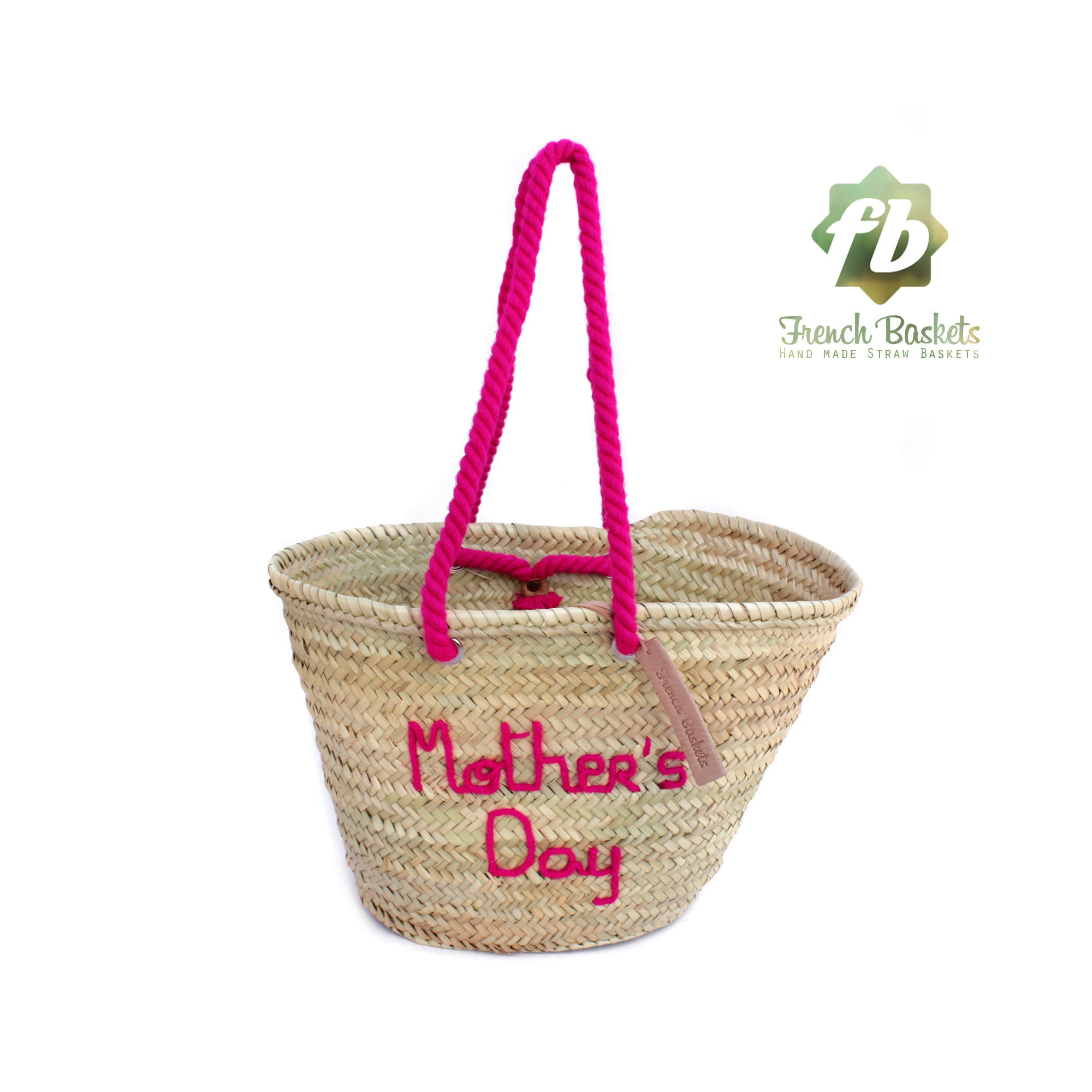 Customized Mother's Day gifts straw bag personalized french baskets