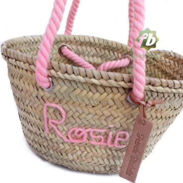 Customized straw bags Baptism gifts French baskets Monogrammed bag personalized