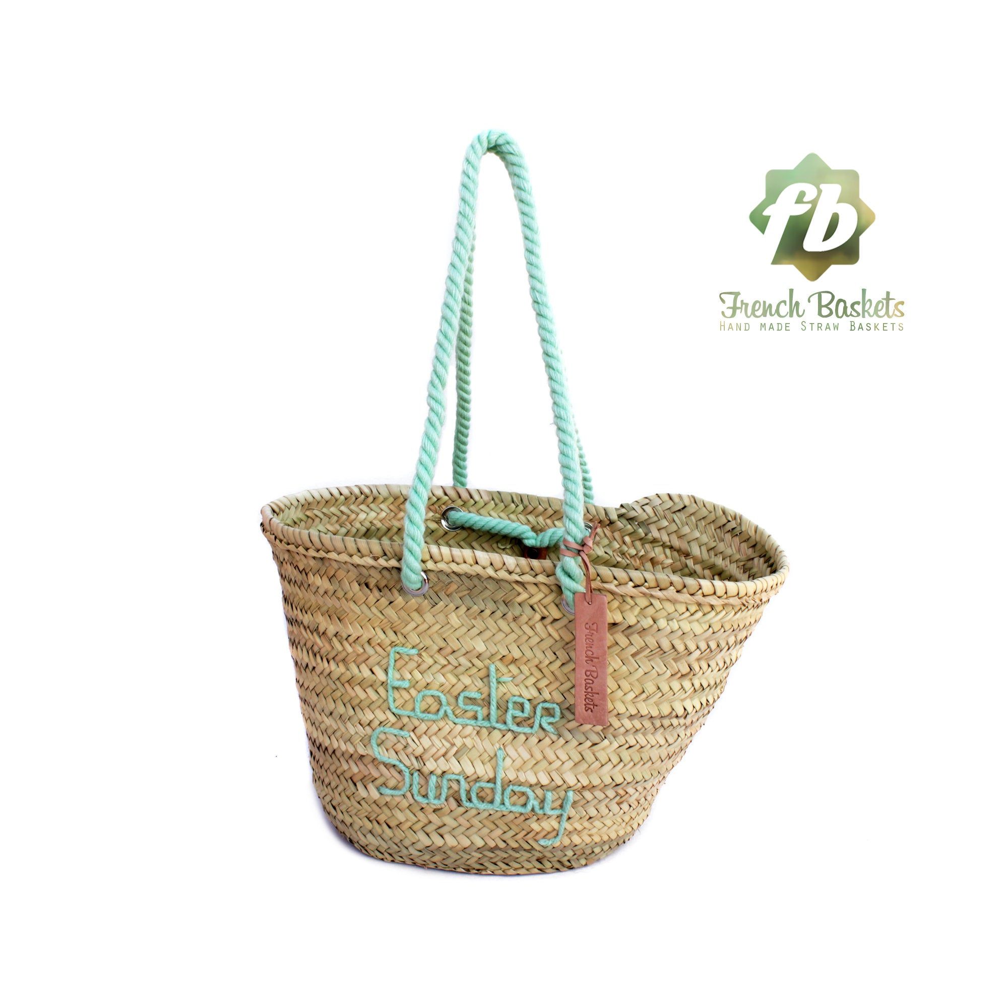 Customized straw bags Easter's Day French baskets