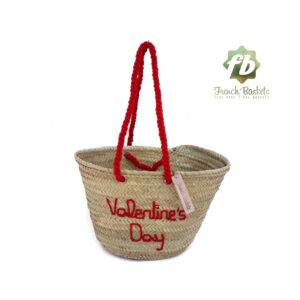 Customized straw bags Valentine's Day