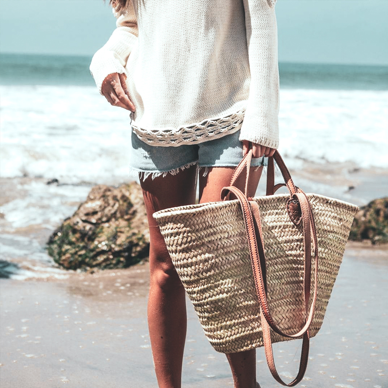 STRAW BEACH BASKETS